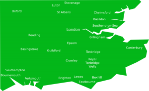 Map of London area. (UK)