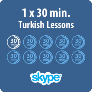 This is showing Skype Turkish lessons time table